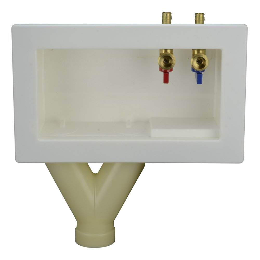 LSP OB-720-TOP Outlet Box with Wirsbo Pex Top Assembled, Tornado White