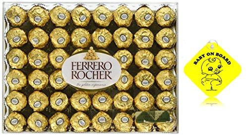 Ferrero Rocher Fine Hazelnut Chocolates, 21.1 Oz, 48 Count ()