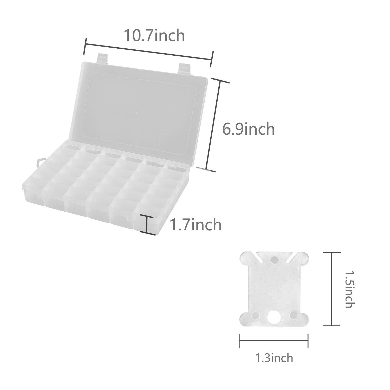 2 Packs 28 Grids Adjustable 5D Diamond Painting Accessories Storage Case