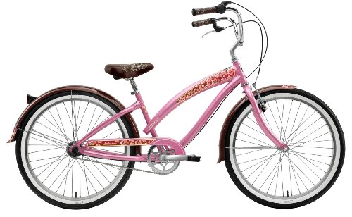 Nirve Lahaina Women's Three Speed Cruiser Bike (26-Inch Wheels, Pink (Nirve 3 Speed Cruiser)