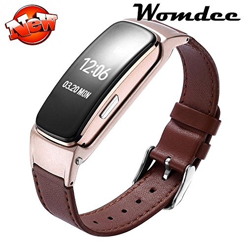 2 IN 1 Bluetooth Headset Fitness Tracker, Leather Bluetooth