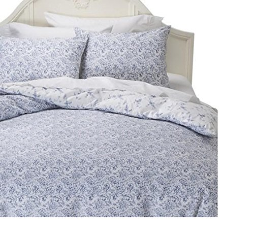 Simply Shabby Chic Batik Indigo Blue Floral Duvet Cover Set TWIN