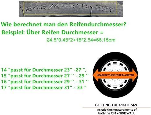 LITTOU Universal Sch/ädel Ersatzreifen Rad Weiche Abdeckung Ledertasche Besch/ützer 16f/ür Durchmesser 29-31
