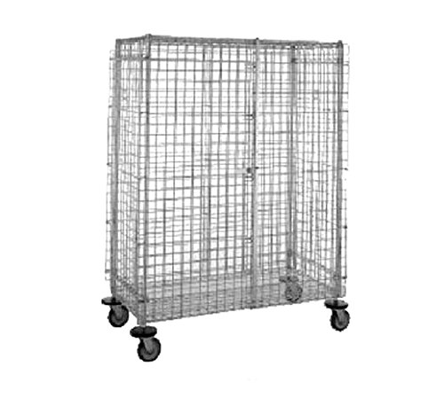 Wire Security Cart (Metro (InterMetro) / Emerson - SEC55DCQ - Wire Security Cart, 900 lb. Load Capacity, (4) Swivel Caster Type, Polyurethane Caster Material)