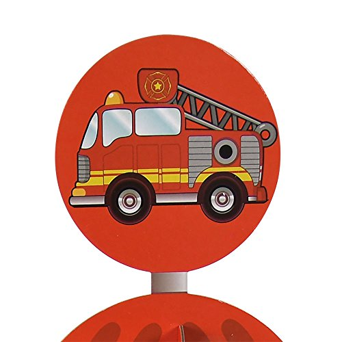 Fire Hydrant Cupcake Stand Pick Kit Fireman Birthday Fire Engine