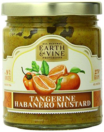 Earth & Vine Provisions Tangerine Habanero Mustard, 10 Ounce (Mustard Habanero)