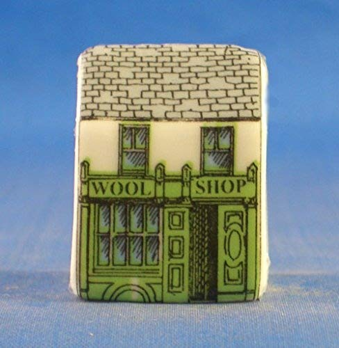 Birchcroft Porcelain China Collectable Thimble -- Miniature House Shape - Wool Shop Birchcroft China