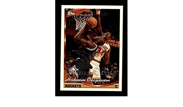 Amazon.com: 1993 Topps # 266 Hakeem Olajuwon Houston Rockets (Basketball Card) Deans Cards 8 - NM/MT Rockets: Collectibles & Fine Art