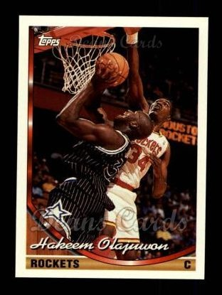 1993 Topps # 266 Hakeem Olajuwon Houston Rockets (Basketball Card) Deans Cards 8 -
