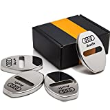 4pcs/lot New Arrival Stainless Steel Door Lock Decoration Cover Door Lock Cover Sticker For A1 A4 A5 A7 A8 Q3 AUDI A3 Q5 Car Styling (silver)