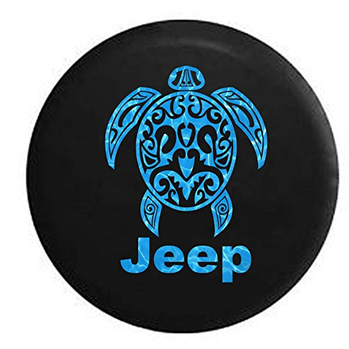 Water – Jeep Sea Turtle Diving Beach Marine Life Spare Tire Cover OEM Vinyl Black 32-33 in
