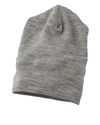 Engel 70% Organic Wool 30% Silk Baby Hat (62/68 (3-6 Months), Grey Melange)