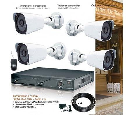 1080P 4 canaux CCTV 4 Camera Set Kit de surveillance Caméra de sécurité à d1