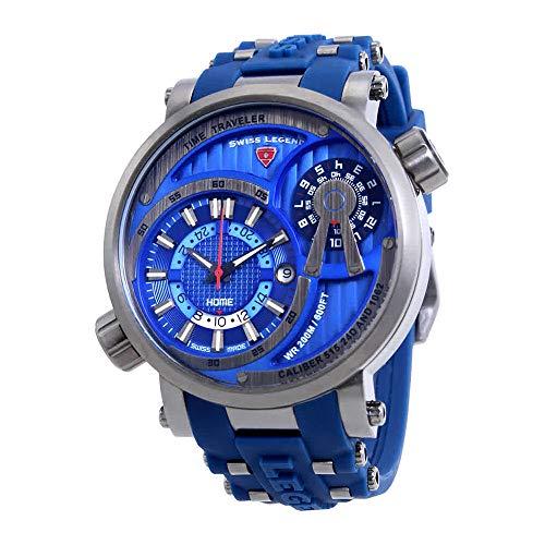 Swiss Legend Time Traveler Blue Dial Mens Watch SL-13841SM-GM-03-BLS