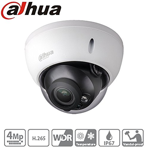 Dahua Dome Cctv Camera HDBW4431R-AS 2.8Mm Lens 4Mp PoE IP Camera Onvif IK10 IP67 H.265 H.264 WDR Night Vision 30M International Version by teaker