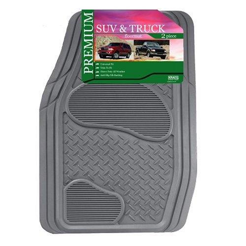 Kraco R2102GRY Grey Rubber Truck & SUV Mat Set - 2 Piece