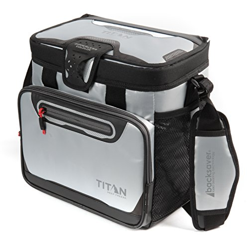 : Arctic Zone Titan Deep Freeze 16 Can Zipperless Cooler, Silver