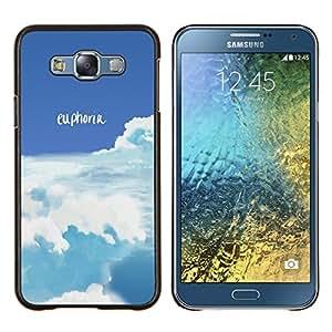 Qstar Arte & diseño plástico duro Fundas Cover Cubre Hard Case Cover para Samsung Galaxy E7 E700 (Euforia)