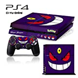 Cheap Ci-Yu-Online VINYL SKIN [PS4] Pokemon #5 Mega Gengar Whole Body VINYL SKIN STICKER DECAL COVER for PS4 Playstation 4 System Console and Controllers