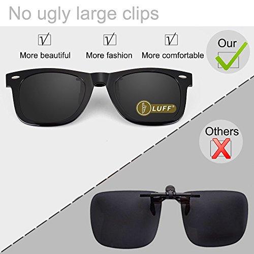 polarizadas de de con conducción exterior y Gafas cómodos sol Elegantes Unisex para Gafas pesca clip plateado miopes sol Clips qCEBBfxAw
