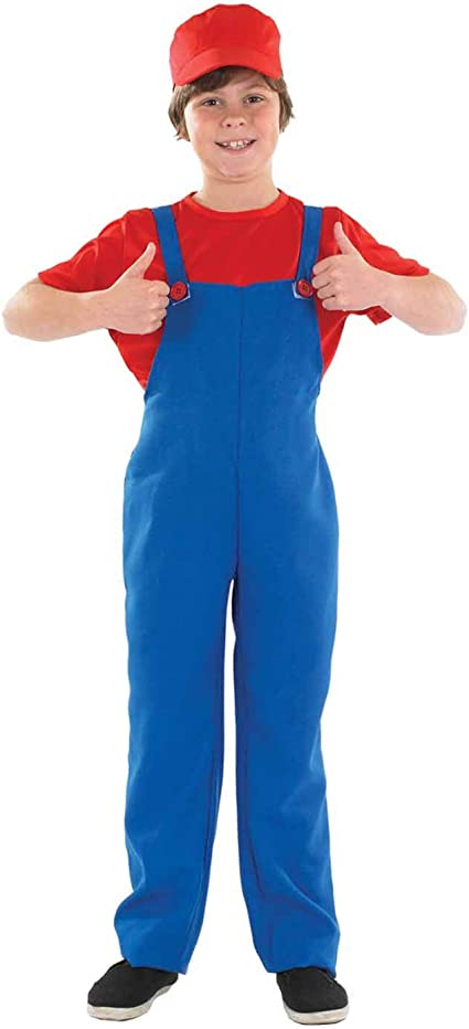 Boys Toys - Disfraz de súper Mario Bros para niño, talla S (4-6 ...