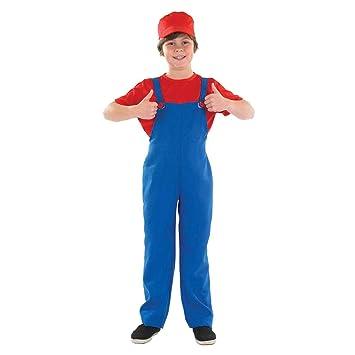 Boys Toys - Disfraz de súper Mario Bros para niño, talla M (6-8 años) (2985-300M)