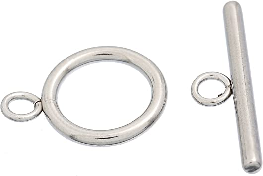 Wholesale Lots Stainless Steel Toggle Clasps Connectors Silver Tone
