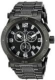 Joshua & Sons Men's JX104BK Round Black Dial Chronograph Quartz Black Bracelet Watch