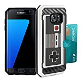 Cheap Galaxy S7 Edge Case, DuroCase Hybrid Dual Layer Slim Armor Credit Card Slot Case White for Samsung Galaxy S7-Edge SM-G935 (Released in 2016) – (Game Controller)