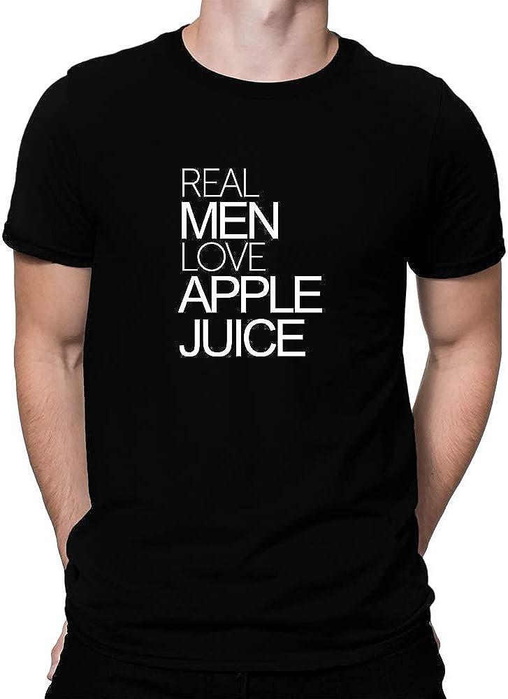 Teeburon Real Men Love Apple Juice Bold T-Shirt