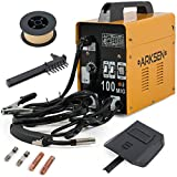 MIG Welder - ARKSEN MIG-100 Gas-Less Flux Core Welder, 90AMP, 110v (Automatic Feed Wire) Yellow