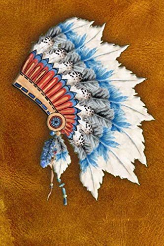 Native American Headdress College Ruled Notebook: School Notebook Perfect for Taking Notes