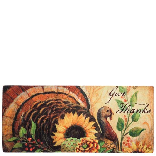 - Evergreen Woodland Turkey Decorative Mat Insert, 10 x 22 inches by Evergreen Enterprises