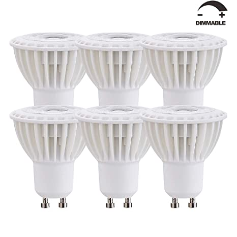 Ossun - Bombillas LED de 7 W de cuello largo, GU10, regulables, luz