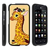 Huawei Tribute Y536A1 Phone Case, Perfect Fit Snap on Cell Phone Case Silly Animal Design Series by Miniturtle® - Baby Giraffe