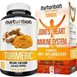 Organic Turmeric Curcumin - Joint Pain Relief and Support - with Bioperine/Black Pepper Highest Absorption - Tumeric Non-GMO Supplements - High Potency Turmeric (120) Made in USA by Nurturition.