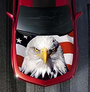 Amazon Com H44 Eagle American Flag Hood Wrap Wraps