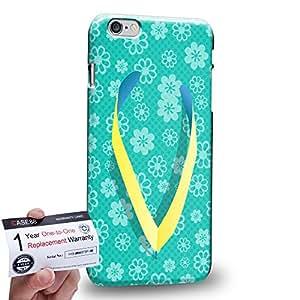 "Case88 [Apple iPhone 6 / 6s Plus (5.5"")] 3D impresa Carcasa/Funda dura para & Tarjeta de garantía - Art Drawing Fashion Floral Flops"