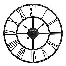 Bulova Carmen Wall Clock, Aged Iron