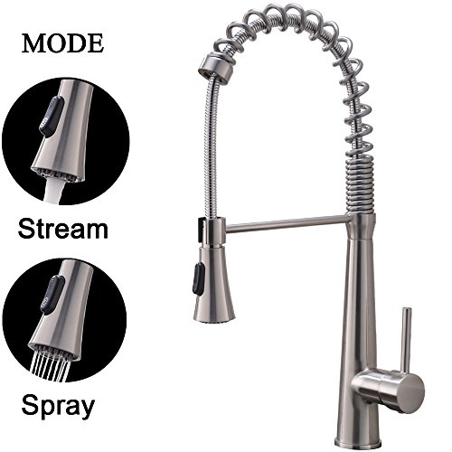 Best Price! Hotis Modern Spring 360 degree Swivel Pull Out Single Handle Single Lever Stainless Stee...
