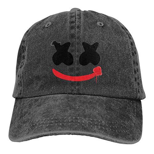 Don Washington Funny Cap Marshmello Joker Denim Baseball Caps Unisex Dad Caps Trucker Hat ()