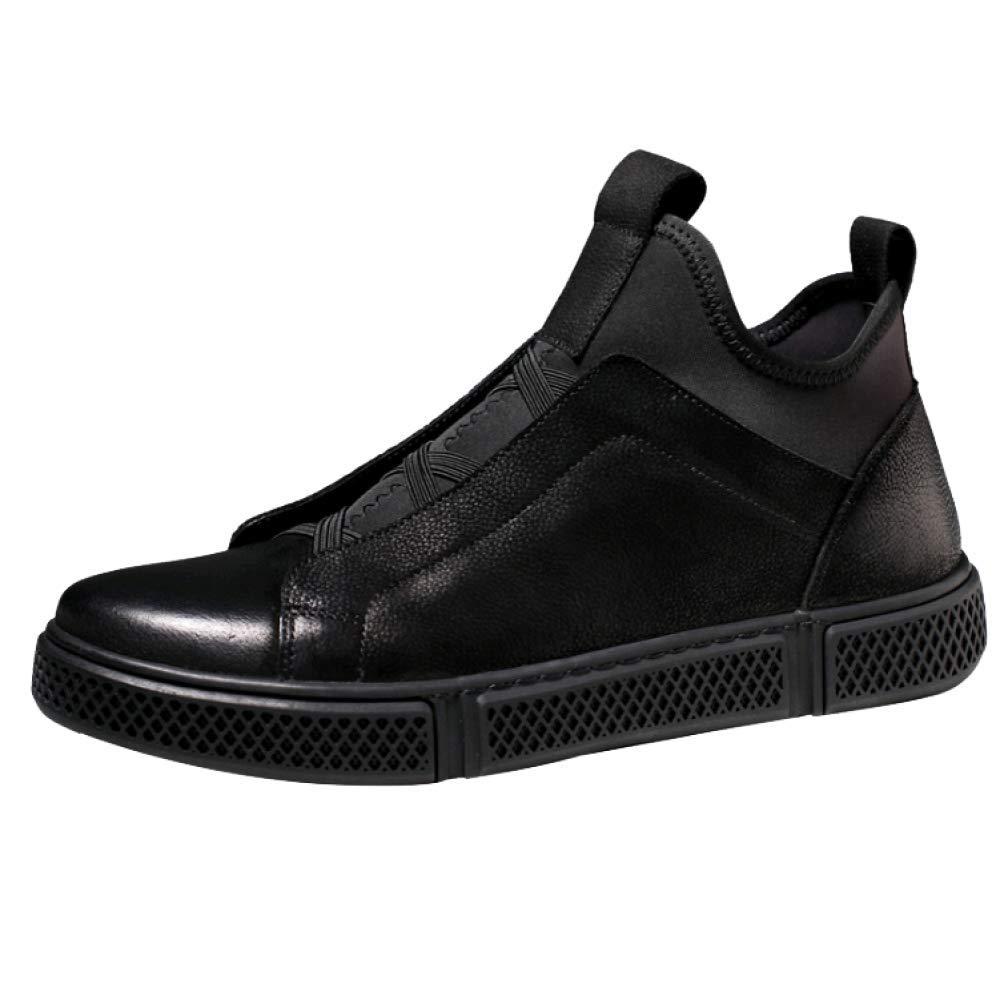 HWG-GAOYZ Schuhe Herren Stiefel Martin Herbst Winter Leder Lässig Atmungsaktiv Sportstiefel Outdoor,schwarz-39