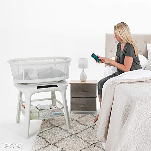 51wndy9BI7L - 4moms MamaRoo Sleep Bassinet | Bluetooth Baby Bassinets And Furniture With 5 Unique Motions | 4 Built-in White Noise Options | Birch