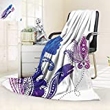 vanfan Silky Soft Plush Warm Blanket Autumn Winter Decor Girls Silhouette Flowers on Her Hair Floral Ornaments Meditation Spa Artwork,Silky Soft,Anti-Static,2 Ply Thick Blanket. (90''x108'')