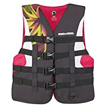 BRP Sea-Doo Women's 2015 Nylon Motion PFD Life Vest Jacket (2X-Large, Pink) by Sea-Doo