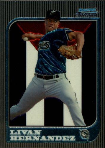 1997 Bowman Chrome Baseball Card #153 Livan Hernandez Near Mint/Mint - Livan Hernandez Baseball