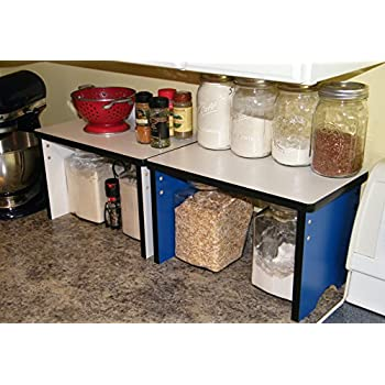 Kitchen Countertop Small Shelf Space Saver Organizer   Stackable