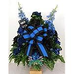 Beautiful-XL-Back-The-Blue-Police-Memorial-Cemetery-Vase-Arrangement