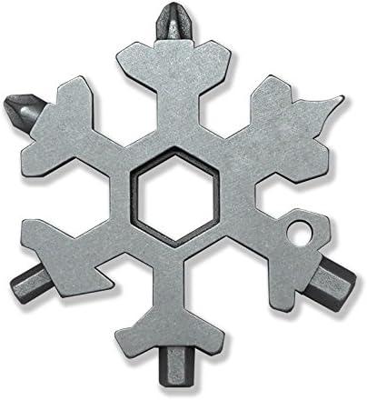 Saker 18 en 1 en acier inoxydable Flocon de neige Outil multifonction Argent