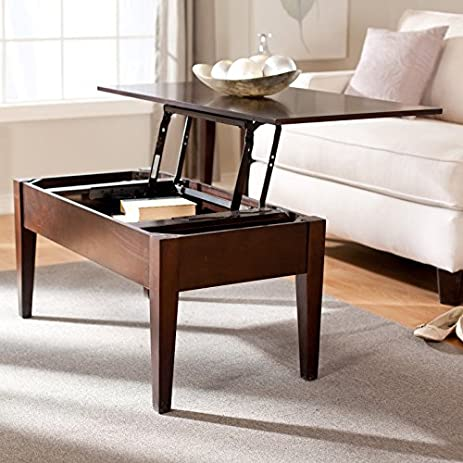 Amazoncom Turner Lift Top Coffee Table Espresso WSN04C